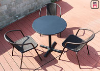 Square/ Round Outdoor Restaurant Tables Carbon Steel Weatherproof Patio Furniture
