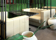 Square Pattern Hotel Fast Food Restaurant Seating , U Shaped Restaurant Booths