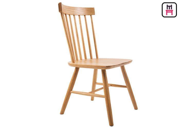 Walnut Window Back Wood Restaurant Chairs Solid Wood American Windsor Chair