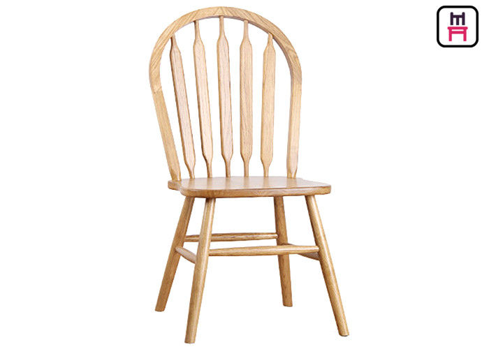 Indoor Windsor Solid Wood Restaurant Chairs With Curved Back Unibody Block