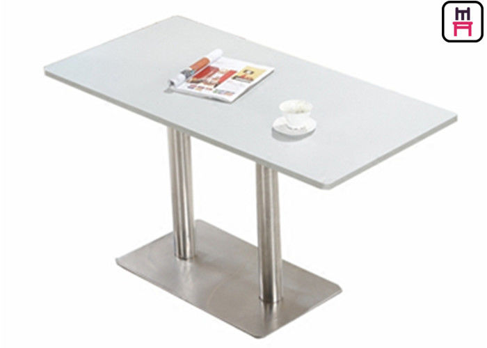 Plywood Stainless Steel Base Table , 4ft*2ft Elegant Rectangle Coffee Tables