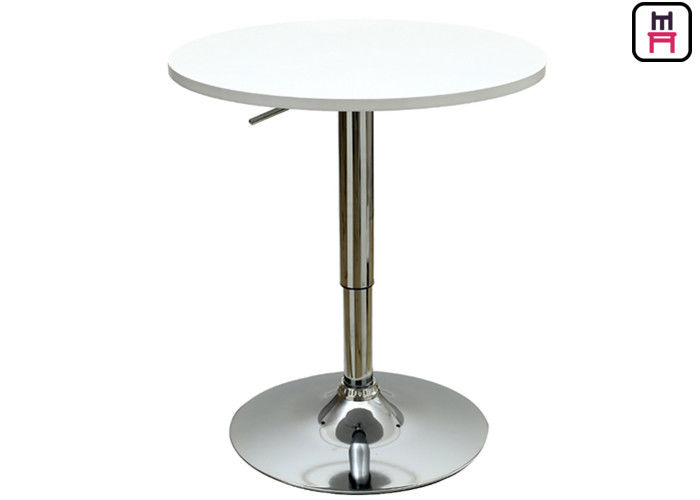 White / Gray MDF Top Restaurant Bar Tables Adjustable Height With Square / Round Shape