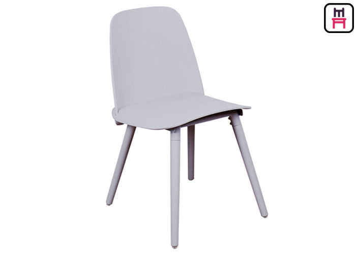PP Made Armless Plastic Restaurant Chairs Contracted Colorful Nordic Design