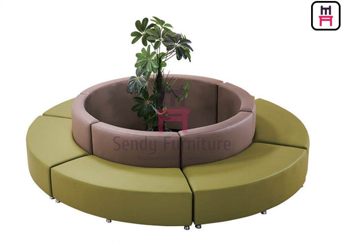 Fabric  Round Shape  Commercial Booth Seating With Steel Frame Base For  Lobby