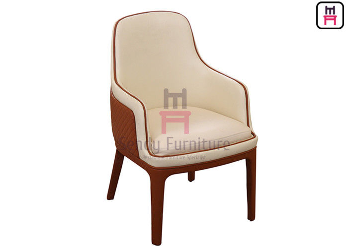 High Back Wooden Dining Room Chairs Dual Color Luxury Oversize For Hotel / VIP Room