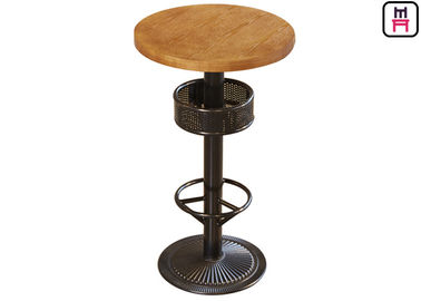 Bar Height Table With Storage , 24'' Diameter Round / Square Plywood Bar Table